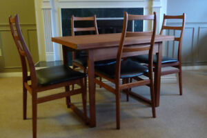 Teak Mid Century Dining table and Chairs