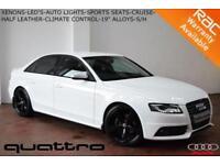 "2010 Audi A4 2.0TDI (170PS) QUATTRO S Line-XENONS-LED'S-SPORTS SEATS-19"" ALLOYS"