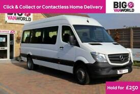 2016 MERCEDES SPRINTER 516 CDI 163 TRAVELINER LWB 17 SEAT BUS HIGH ROOF DRW RWD