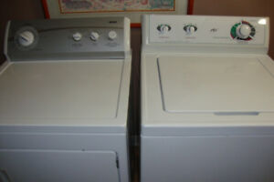 """SUPER CAPACITY """"PLUS"""" Washer and Dryer $260. For The SET"""