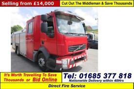2008 - 58 - VOLVO FL7 4X2 6 SEAT CREW CAB FIRE TENDER (GUIDE PRICE)