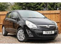 Vauxhall Corsa 1.2i 16v 85ps A/C Excite Manual Petrol 5 Door Hatchback in Black