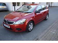 Kia ceed 1.4 2010MY 1 Red Manual Full Service 61K