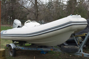 AVON Rigid Inflatable Boat - Seasport 400DL Deluxe with 50HP