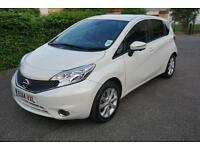 Nissan Note 1.2 DIG-S ( 98ps ) CVT 2013MY Tekna Auto White Front & Rear Camera