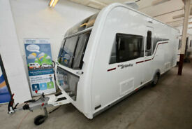 2016 Elddis Affinity 554 4 Berth Touring Caravan with Fixed Island Bed