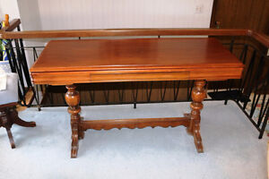 REDUCED EARLY CANADIAN BUTLER OR SERVING TABLE MECHANICAL RARE