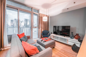 Bright and Spacious One Bedroom + Den in King West