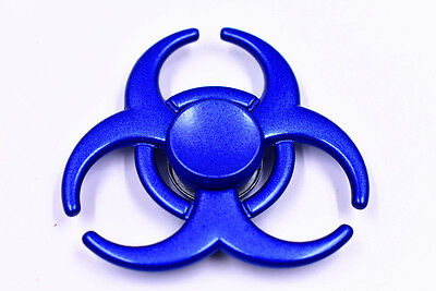 Hand Fidget Spinner Stainless Steel Metal Focus Desk Toy EDC Finger Gyro Blue US