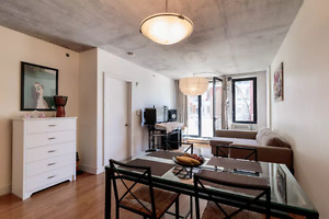 3 1/2 condo Griffintown with gym, rooftop