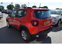 2016 Jeep Renegade 1.4 MultiAir II Longitude (s/s) 5dr Petrol red Manual