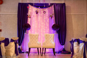 Bride and Groom chairs or Sofa chair to rent
