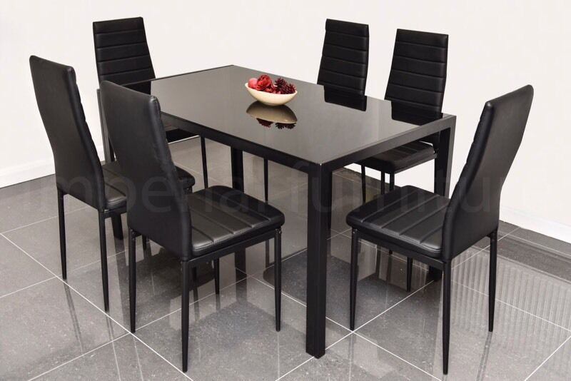 STUNNING GLASS DINING TABLE SET BLACK OR WHITE WITH 4 OR 6  : 86 from www.gumtree.com size 800 x 534 jpeg 52kB