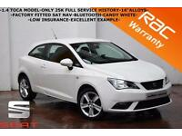 2013 Seat Ibiza 1.4 Toca-ONLY 25K FULL SERVICE HISTORY-SAT NAV-B/TOOTH-FINANCE-