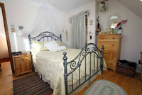 double bed and frame/lit double avec structure
