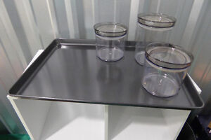 Extra Large Wilton Baking Sheet and Three Canisters