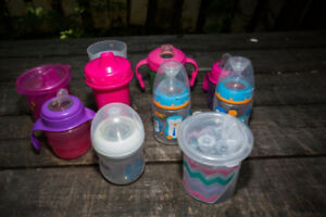 Toddler baby and children sippy cups, bottles and hangers