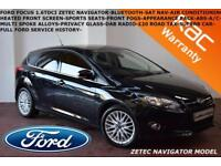 2014 Ford Focus 1.6TDCi (115ps) 2014MY Zetec Navigator-B.TOOTH-A/C-F.F.S.H.