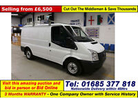 2013 - 63 - FORD TRANSIT T280 2.2TDCI 100PS FWD SWB VAN (GUIDE PRICE)