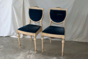 Henry Morgan Low Back upholstered dining chairs