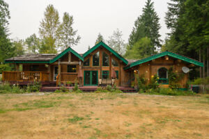 Beautiful Log Home on 2.37 Acres!
