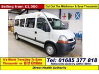 2008 - 08 - RENAULT MASTER 2.5DCI 120PS WILKER 8 SEAT DISABLED ACCESS MINIBUS