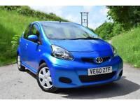 2010 Toyota AYGO 1.0 VVT-i AYGO Blue 44k miles £20 Tax 5 doors