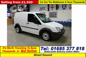 2008 - 08 - FORD TRANSIT CONNECT T220 1.8TDCI 110PS SWB VAN (GUIDE PRICE)