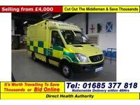 2007 - 07 - MERCEDES SPRINTER 515 2.2CDI AUTO UV MODULAR BODY AMBULANCE / CAMPER