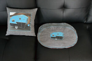 Camper Matching Placemats and Cushion Kingston Kingston Area image 1