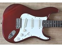 1992 Fender Squier Stratocaster MIK Candy Apple Red