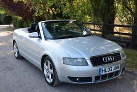 Audi A4 Cabriolet 3.0 Sport Auto CVT 2003 12 MONTHS MOT FSH