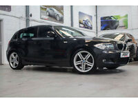"BMW 118d M Sport, 61 Reg, 57k, 5Dr, Sapphire Black, Half Leather, 18"" Alloys Etc"