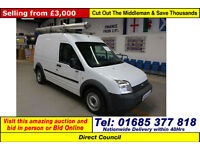 2009 - 58 - FORD TRANSIT CONNECT T230 1.8TDCI 90PS LWB VAN (GUIDE PRICE)