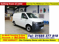 2013 - 13 - VOLKSWAGEN TRANSPORTER T28 2.0TDI 84PS SWB (GUIDE PRICE)