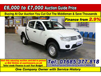 2011 - 11 - MITSUBISHI L200 4WORK 2.5DI-D 4X4 DOUBLE CAB PICK UP (GUIDE PRICE)