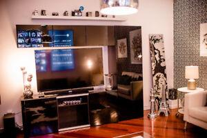 Ikea BESTA TV unit with sliding doors