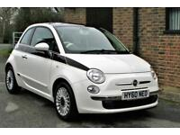 2010/60 FIAT 500 1.2 LOUNGE. WHITE. FULL SERVICE HISTORY. ONLY TWO OWNERS .