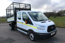 Ford Transit 2.2TDCi ( 125PS ) RWD 350 L3 DOUBLE CAB CAGED TIPPER 65 REG