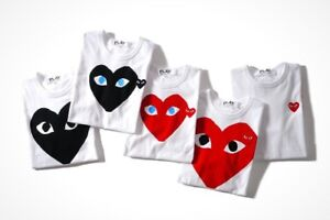 Looking to buy CDG Play tees in size large