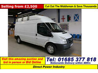 2008 - 58 - FORD TRANSIT T350 2.4TDCI 115PS RWD HIGH-TOP LWB VAN (GUIDE PRICE)