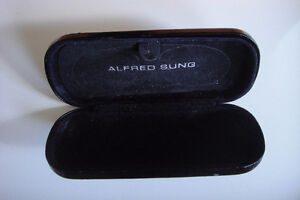 ALFRED-SUNG-Black-EYEGLASSES-Travel Sun Glasses Case-Pouch-