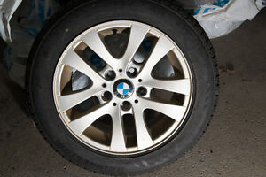 Four BMW Winter tires and rims