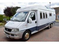 Hobby 700 Motorhome for Sale Low Profile Four Berth Four Belts Tag Axle Awning