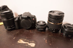 Canon t5 i with 4 Lenses