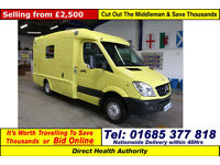 2008 - 58 - MERCEDES SPRINTER 515 2.2CDI ATT PAPWORTH BODY AMBULANCE / CAMPER