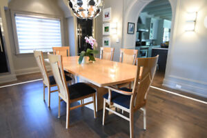 Italian Dining Table Set with 6 chairs [Made in Italy]