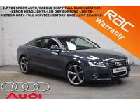 2008 Audi A5 2.7 TDI Sport AUTOMATIC/PADDLE SHIFT-FULL LEATHER-EXCELLENT EXAMPLE