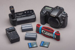 Canon EOS 20D DSLR Camera With Battery Grip: $100