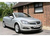 2007 VAUXHALL ASTRA 1.6 SPORT TWINTOP CONVERTIBLE. SILVER. 6300 MILES